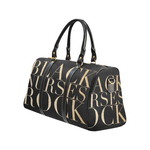 Exclusive Black Nurses Rock Swag Duffel Bag in Black & Gold - Reflections By Zana