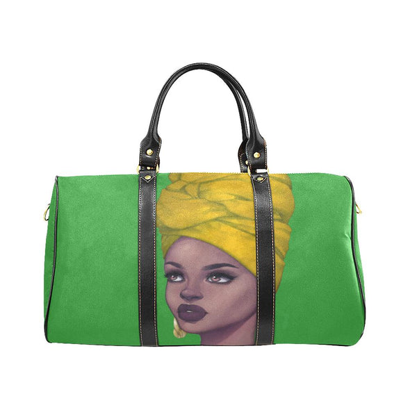 Chi Eta Phi Yellow Queen Zara Travel Bag - Reflections By Zana