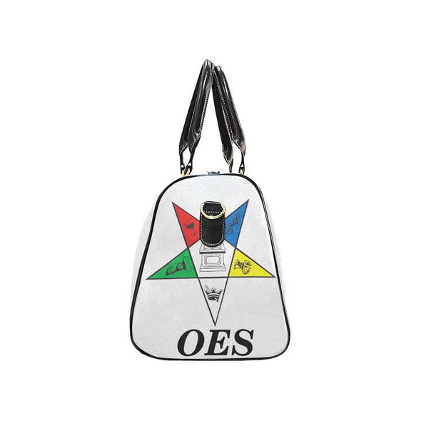 OES Small Duffel White New Waterproof Travel Bag/Small (Model 1639) - Reflections By Zana