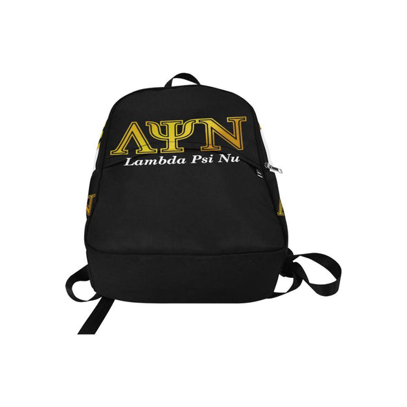 Lambda Psi Nu LPN Black & White Backpack - Reflections By Zana