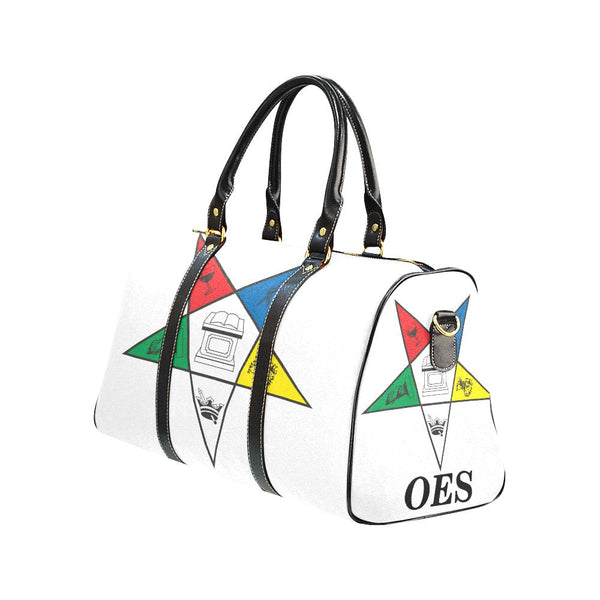 OES White Bag Large Travel Duffel - Reflections By Zana