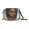 Aqua Loc'd Goddess Saddle Handbag - Reflections By Zana