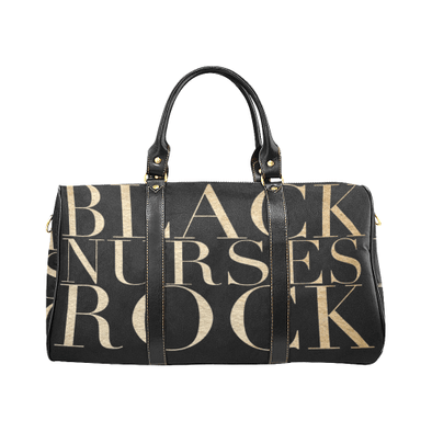 Exclusive Black Nurses Rock Swag Duffel Bag in Black & Gold *Bundle Option* - Reflections By Zana