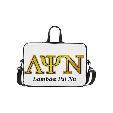 Lambda Psi Nu White LPN Laptop Carry Case 13-17in - Reflections By Zana