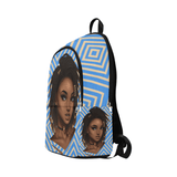 Loc'd Goddess Blue & Gold Backpack - Reflections By Zana