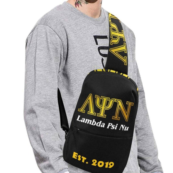 Lambda Psi Nu LPN Chest Bag- Black - Reflections By Zana
