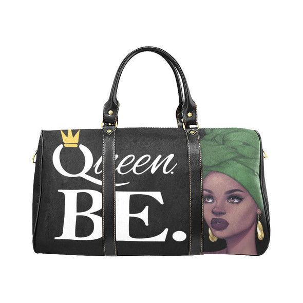 Queen BE. Red Black Green Travel Bag - Reflections By Zana