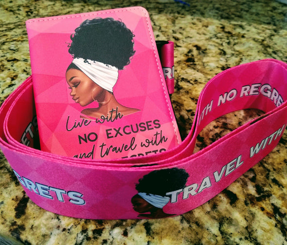 """Pretty in Pinkness"" Designer Luggage Straps - Reflections By Zana"