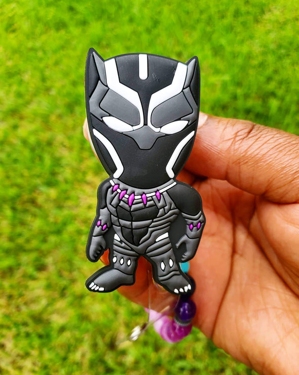 Fan Art T'Challa Black Panther Inspired Black Hero Retractable Badge