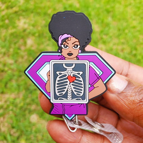 Radiology Technologist, X-ray/ Ultrasound Tech or Radiologist Healthcare Worker ID Badge