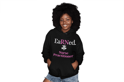 Pink EaRNed Nurse Practitioner Heavy Blend Hoodie