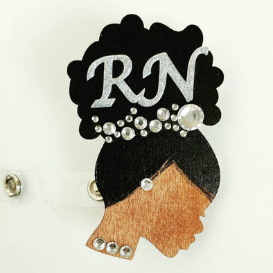 Rhinestone Cluster Retractable ID BADGE Reel - Reflections By Zana