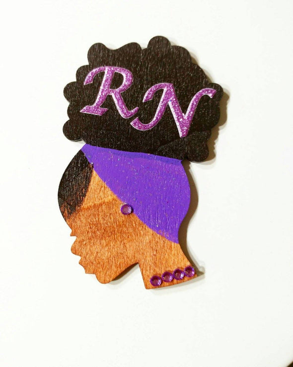 Purple ID Retractable Badge Reel RN LPN LVN MD - Reflections By Zana