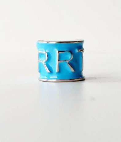 RRT *Registered Respiratory Therapist Turquoise Stethoscope Charms - Reflections By Zana