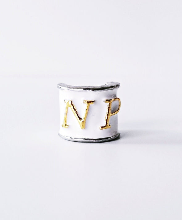 NP Charm Gold Lettering White Enamel Nurse Practitioner Stethoscope Gift Advanced Practice Nurse - Reflections By Zana