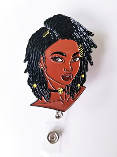 Loc/ Loc'd Girl ID Badge Retractable Holder - Reflections By Zana