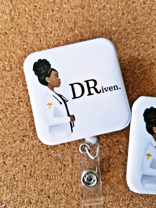 DRiven ID Physician Badge in 2 Colors Black or Purple - Reflections By Zana