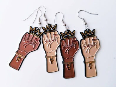 Queens Stand Up! Earrings in 2 Shades - Reflections By Zana