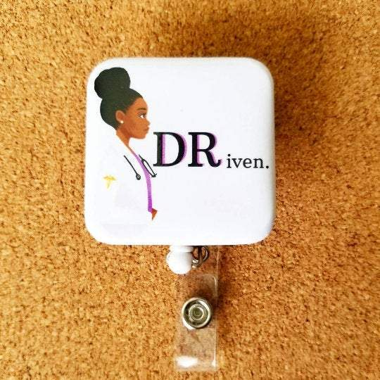 DRiven ID Physician Badge in 3 Colors Pink Black or Purple - Reflections By Zana