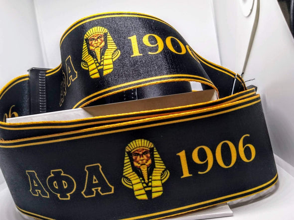 Designer Alpha Phi Alpha Suitcase Luggage Straps - Reflections By Zana