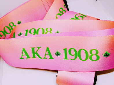 Designer Alpha Kappa Alpha Suitcase Luggage Straps - Reflections By Zana