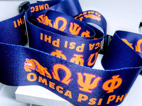 Designer Omega Psi Phi Suitcase Luggage Straps - Reflections By Zana