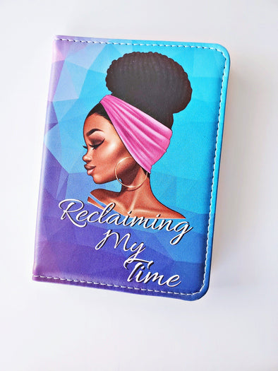 Reclaiming My Time Blue & Purple Passport Cover - Reflections By Zana