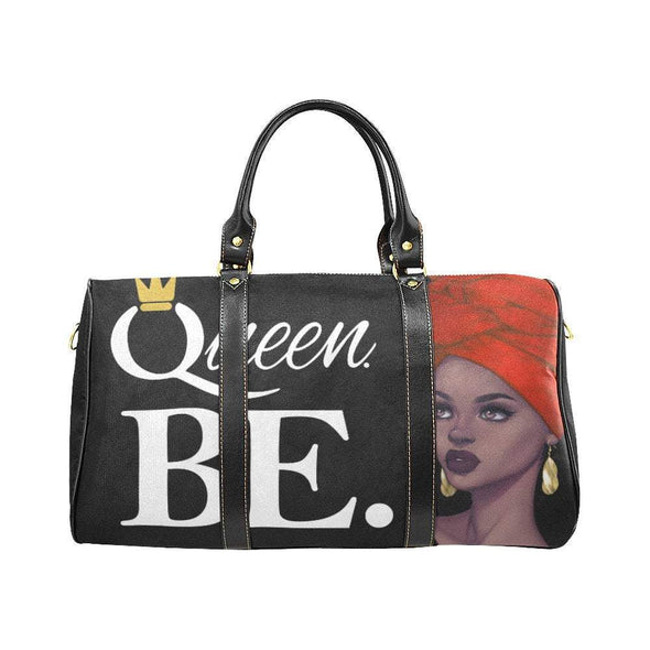 Queen BE Custom Travel Bag in Large Size with Red Yellow and Green theme - Reflections By Zana