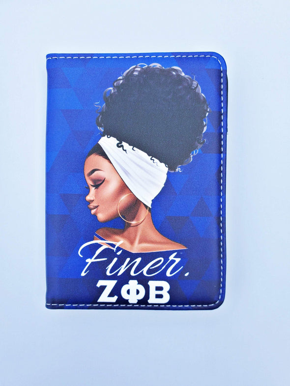 Zeta Phi Beta Passport Cover with White Headwrap - Reflections By Zana