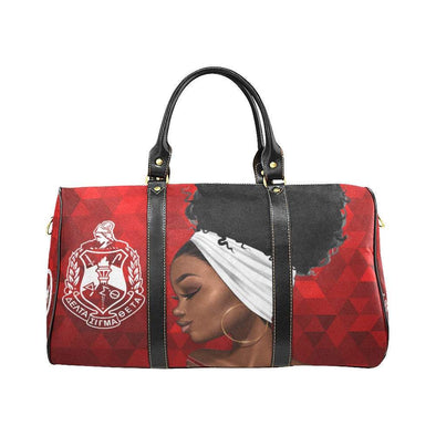 DST Diamond Inspired Custom Waterproof Travel or Carry on Luggage Bag as gift or travel Delta Sigma Theta - Reflections By Zana