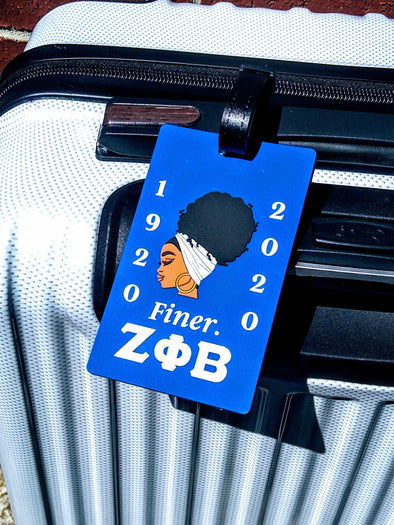 Zeta Phi Beta Centennial Custom Luggage Tag Business Card Holder for 100 Years - Reflections By Zana