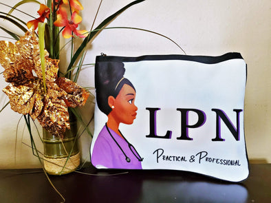 Purple LPN Nurse Bundle with Crossbody Bag & Badge