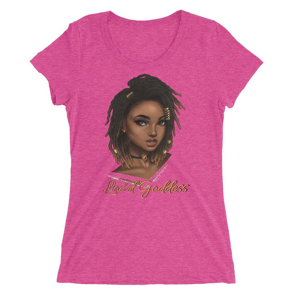 Loc'd Goddess Scoopneck Ladies' short sleeve t-shirt - Reflections By Zana