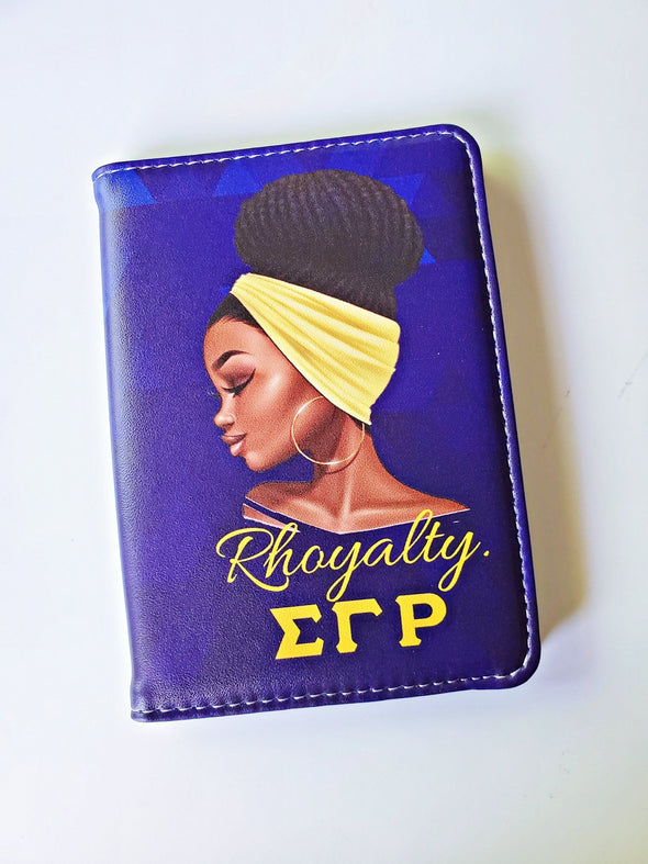 "Sigma Gamma Rho ""Rhoyalty"" Passport Cover - Reflections By Zana"