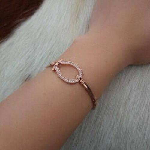 Bracelet Fer à cheval Or rose