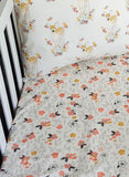 Forest Glade in Tulip Crib Sheets & Change Pad Covers - Sweet Little Baby Cakes