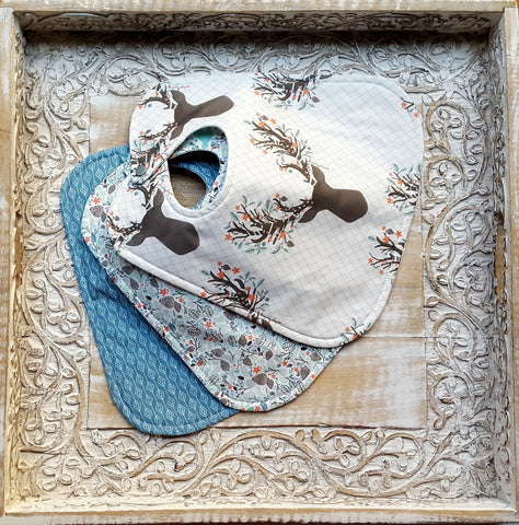 Winter Fawn Bib Set