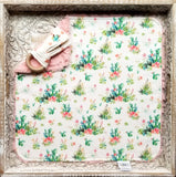 Floral Cactus Security Blanket