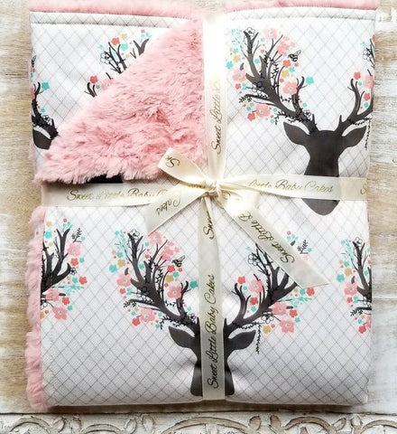 Going Stag... Baby Girl Blanket - Sweet Little Baby Cakes