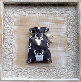 Stag Silhouette In Moonstone Crib Sheets & Change Pad Covers