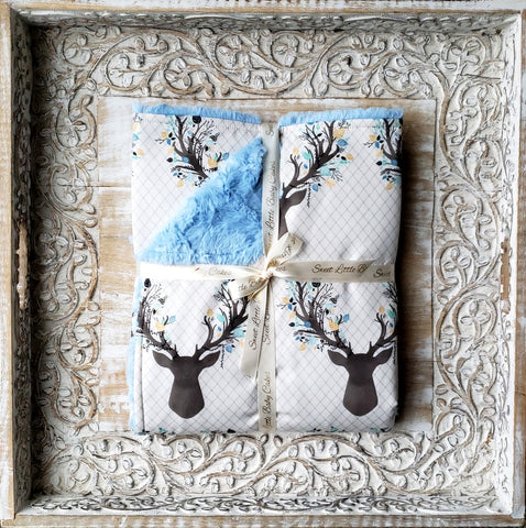 Going Stag... Baby Boy Blanket - Sweet Little Baby Cakes