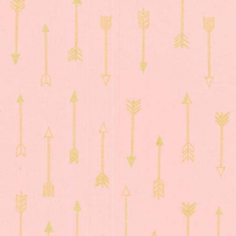 Arrows In  Blush Metallic