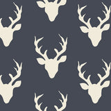 Stag Silhouette In Midnight Crib Sheets & Change Pad Covers