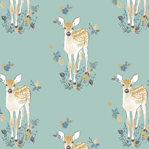 Little Fawn Crib Sheet In Aspen