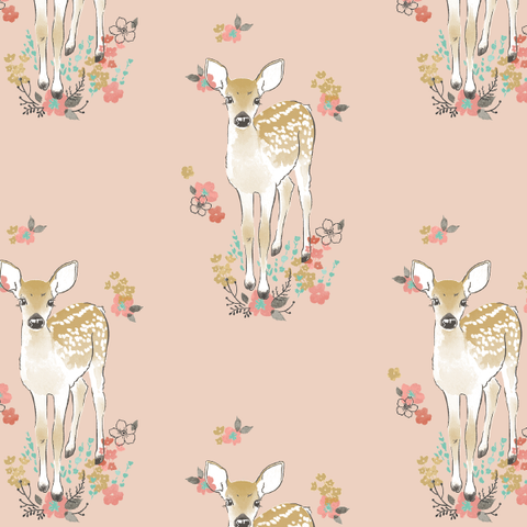Little Fawn In Shell Crib Sheets & Change Pad Covers