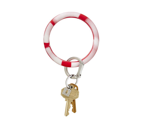 Silicone Key Ring - Cherry on Top Marble