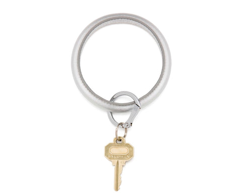 Leather Key Ring - Quicksilver