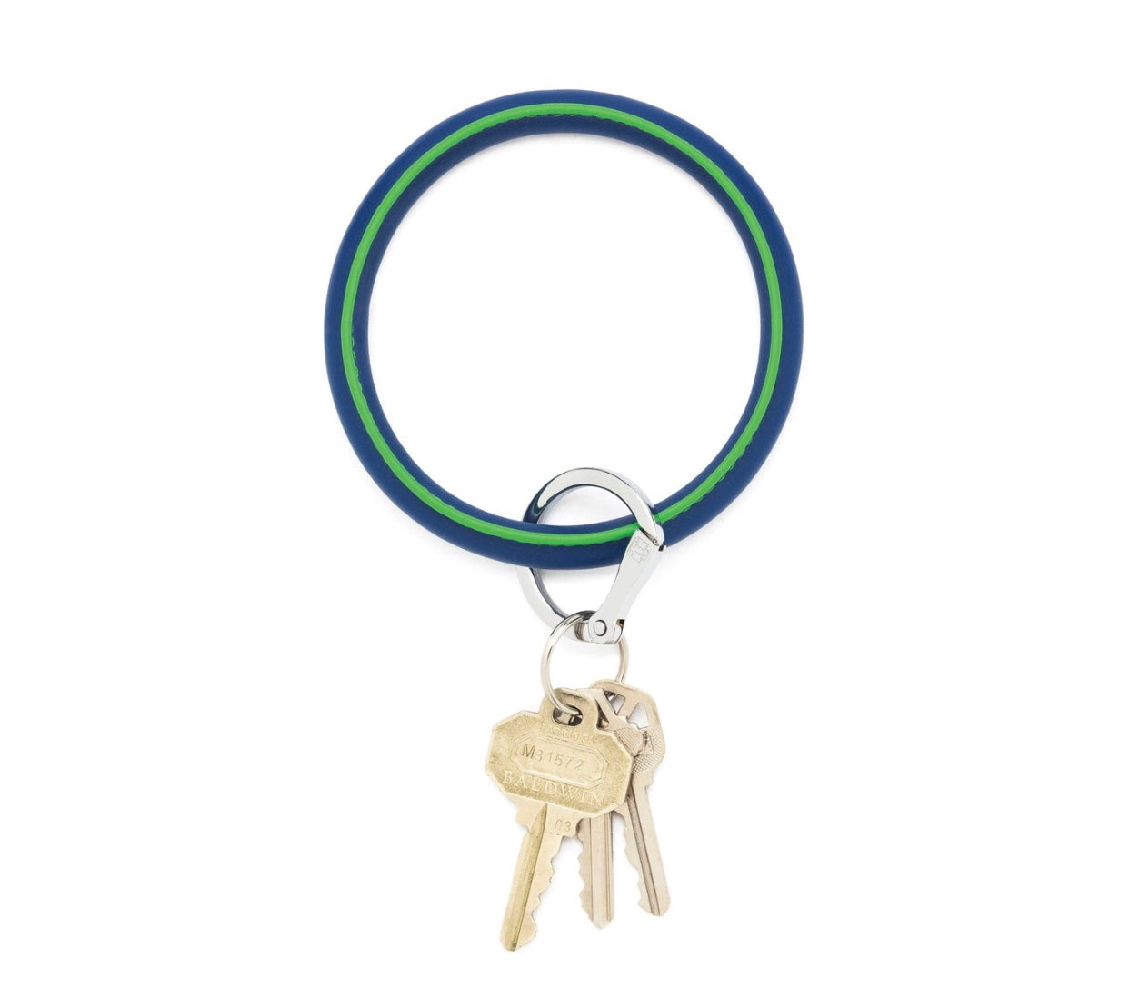 Leather Key Ring - Mind Blowing Blue