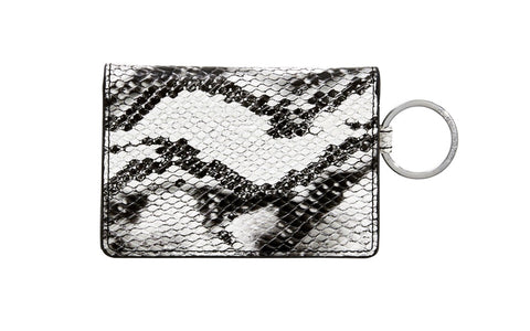 Leather ID Case - Snakeskin