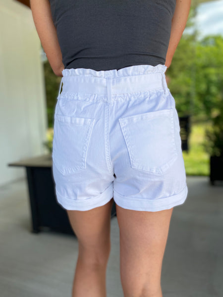 With A Bow Shorts, White